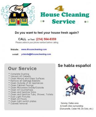 4 House Cleaning Service